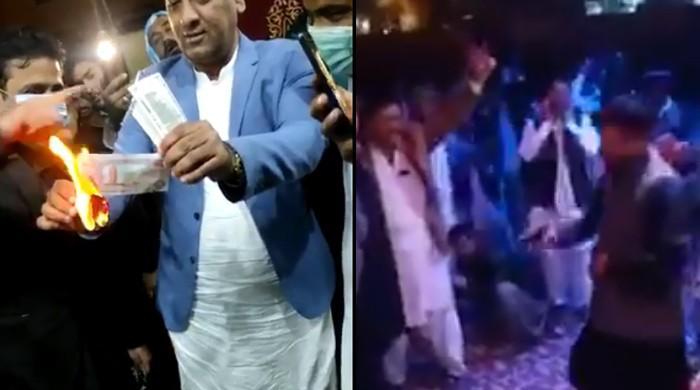 کراچی: شادی کی تقریب میں دو روز تک ہوائی فائرنگ، غیر ملکی کرنسی بھی جلائی گئی