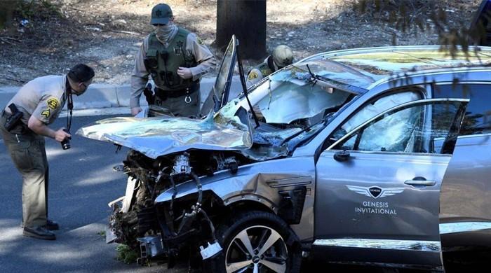 عالمی شہرت یافتہ گالفر ٹائیگر ووڈز ٹریفک حادثے میں شدید زخمی