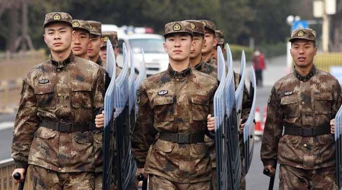 چین: فوجی اہلکاروں کی تضحیک پر 6 افراد گرفتار