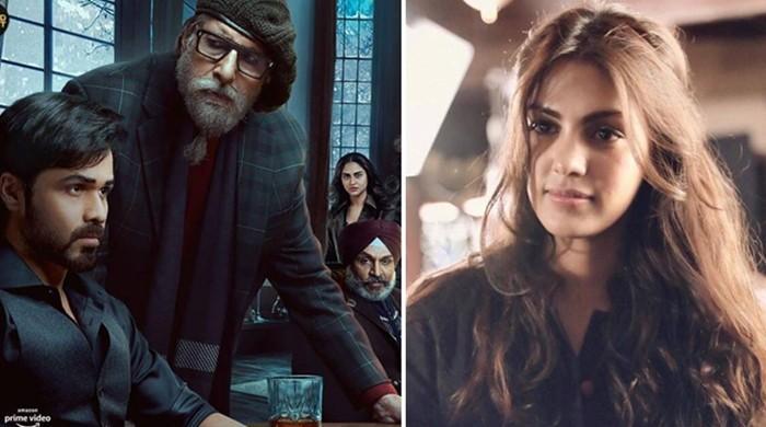امیتابھ اور عمران ہاشمی کی فلم کا پوسٹر جاری، ریا چکرابورتی غائب