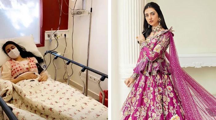 اداکارہ سارہ خان کی طبیعت ناساز، اسپتال میں داخل