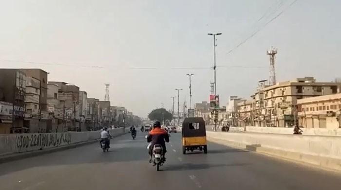 ہڑتال کی اپیل: کراچی میں کاروبار معطل، ٹریفک معمول سے کم