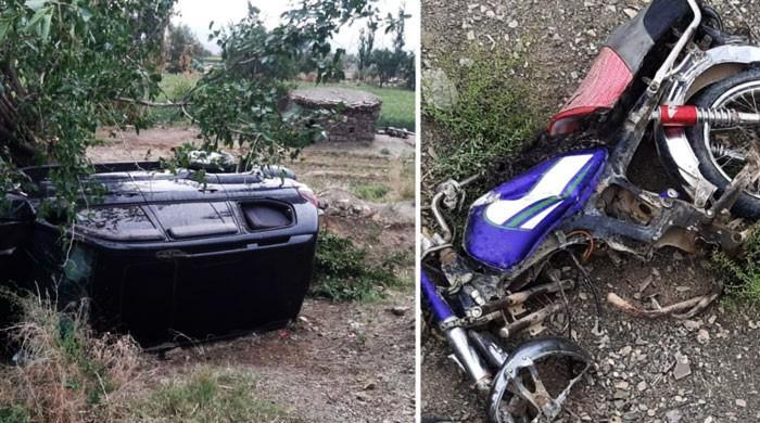 ڈی سی ژوب کی گاڑی کو حادثہ، موٹرسائیکل سوار جاں بحق
