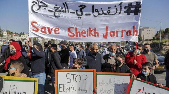 یہودیوں کو بسانے کیلئے فلسطینی خاندانوں کو  بے دخل کیے جانے کا سلسلہ جاری