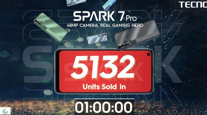 ٹیکنو موبائل Spark 7 Pro کی پاکستانی مارکیٹ میں شاندار انڑی، اسٹاک آؤٹ سیل ریکارڈ قائم