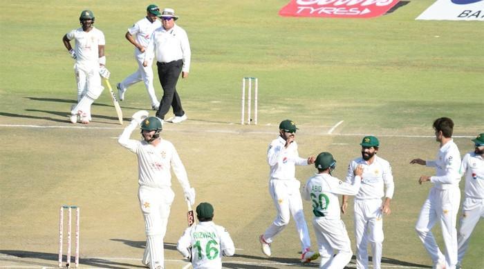 زمبابوے کیخلاف دوسرے ٹیسٹ میں بھی پاکستان کی اننگز سے فتح یقینی ہوگئی