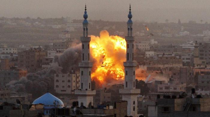 اسرائیل کے فضائی حملے میں حماس کمانڈر اور 3 بچوں سمیت 9 فلسطینی شہید