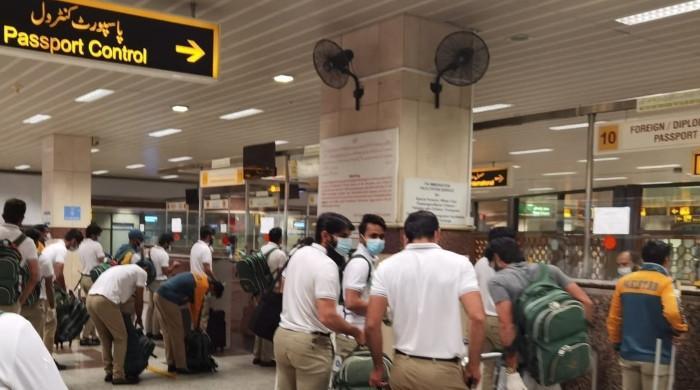 پاکستان کرکٹ ٹیم ہرارے سے لاہور  پہنچ گئی