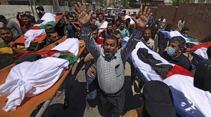 غزہ میں اسرائیلی بمباری سے ایک ہی خاندان کے 10 افراد شہید