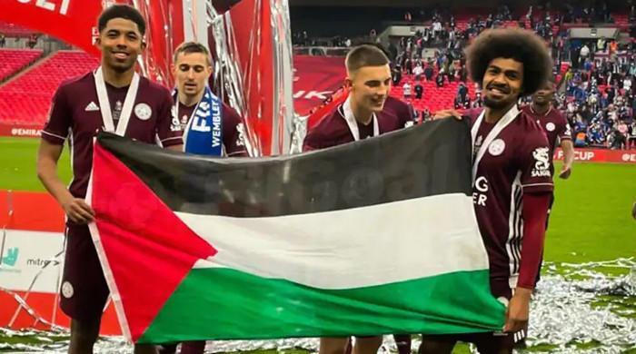 ایف اے کپ میں لیسٹر سٹی کی فتح، کھلاڑیوں کا جشن میں فلسطین سے اظہار یکجہتی