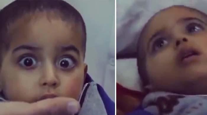 صدمے سے دوچار فلسطینی بچے کی دل دہلا دینے والی ویڈیو