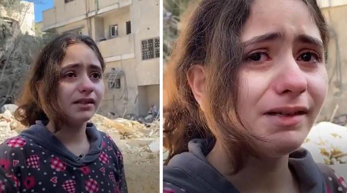 'ہم مسلمان ہیں یہ ظلم اس لیے ہے'، آہ و بکا کرتی فلسطینی بچی کی ویڈیو وائرل