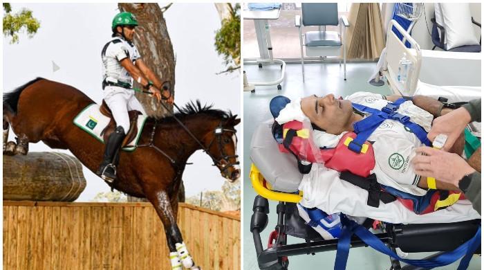 ٹوکیو اولمپکس تک رسائی کی کوشش میں پاکستانی گھڑ سوار عثمان زخمی، گھوڑا ہلاک