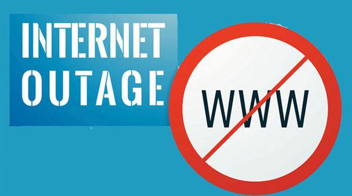 انٹرنیٹ سروس میں تعطل سے کئی غیر ملکی ویب سائٹس ڈاؤن