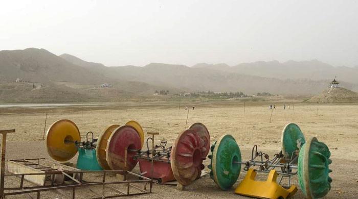 کوئٹہ کے نواح میں واقع ہنہ جھیل خشک ہوگئی
