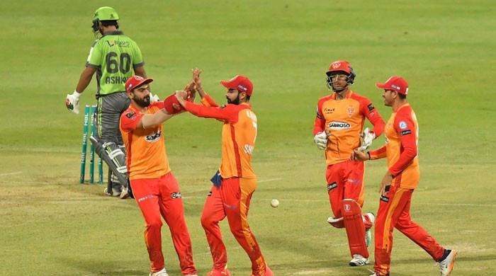 اسلام آباد یونائیٹڈ نے لاہور قلندرز کو 28 رنز سے شکست دے دی