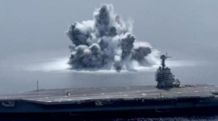 امریکی بحری بیڑے کی مضبوطی جانچنے کیلئے سمندر میں طاقتور دھماکا، زلزلہ آگیا