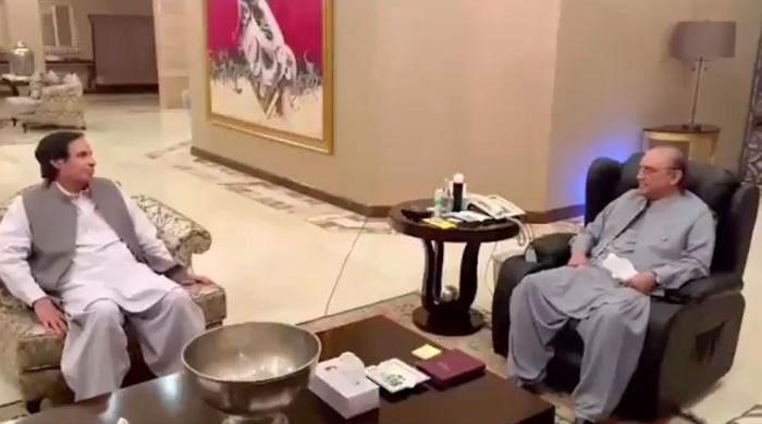 پرویز الٰہی کی لاہور میں آصف علی زرداری سے ملاقات