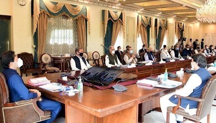 تحریک لبیک پاکستان (ٹی ایل پی) پر کابینہ نے کمیٹی کی جانب سے دی گئی رپورٹ پر پابندی برقرار رکھنے کا فیصلہ کیا —فوٹو:فائل