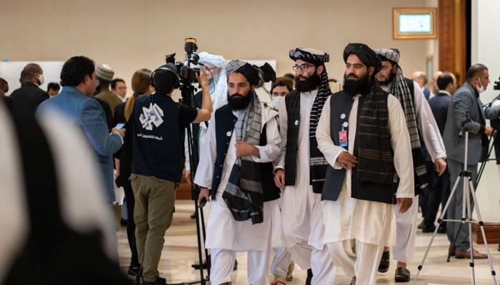 طالبان وفدکےسربراہ ملاعبدالغنی برادر نے مذاکرات کے دوران اپنے خطاب میں کہا کہ عدم اعتماد کےخاتمے اور قوم کےاتحادکیلئےکوششیں کرنی چاہئیں— فوٹو: فائل