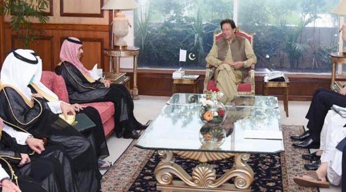 وزیراعظم سے سعودی وزیرخارجہ شہزادہ فیصل بن فرحان السعود کی ملاقات