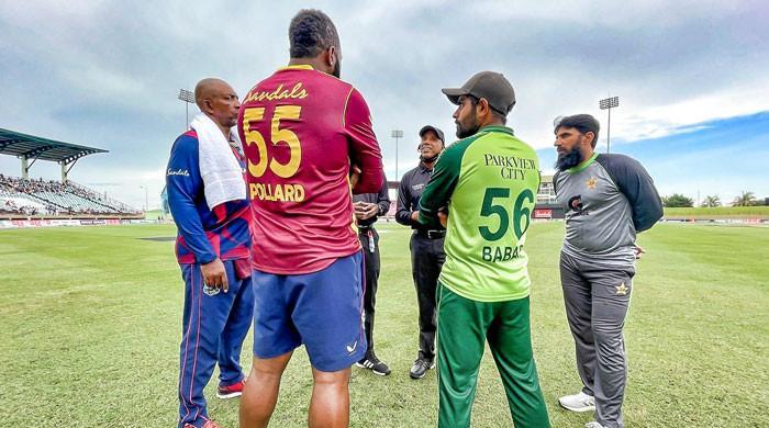 پاکستان اور ویسٹ انڈیزکے درمیان تیسرا ٹی ٹوئنٹی بھی بارش کے باعث ختم کردیا گیا