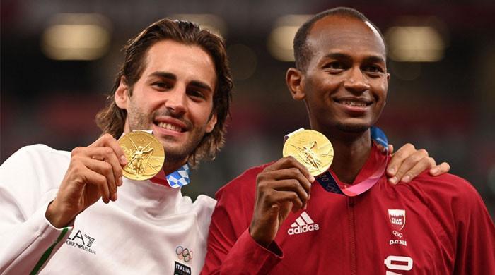 جب قطری ایتھلیٹ نے جیتنے کے باوجود اطالوی کھلاڑی کو گولڈ میڈل میں حصہ دار بنایا