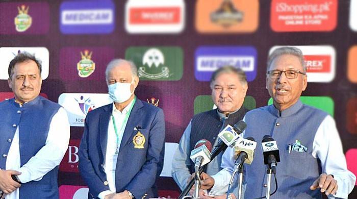 جو تبدیلی آپ دیکھ رہے ہیں اس کا کریڈٹ  اسپورٹس کو جاتا ہے، صدر عارف علوی