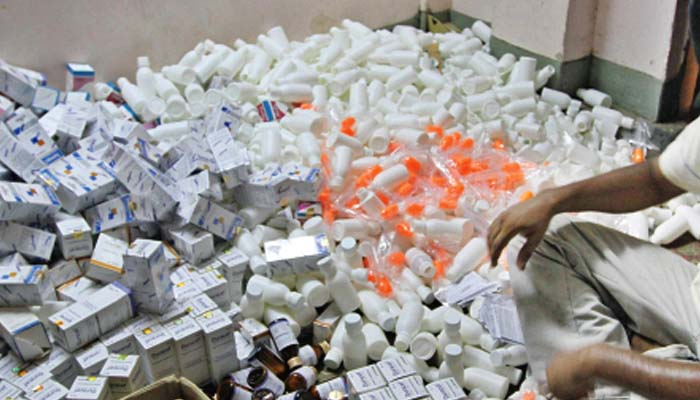 فیکٹری سے جعلی ادویات کی بھاری کھیپ برآمد کی گئی ہے: پولیس، فائل فوٹو