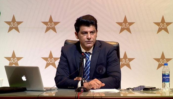 محمد وسیم نے بتایا کہ ٹی ٹوئنٹی ورلڈ کپ کیلئے قومی ٹیم کی قیادت بابر اعظم کپتان ، نائب کپتان شاداب خان ہوں گے۔—فوٹو: جیو نیوز