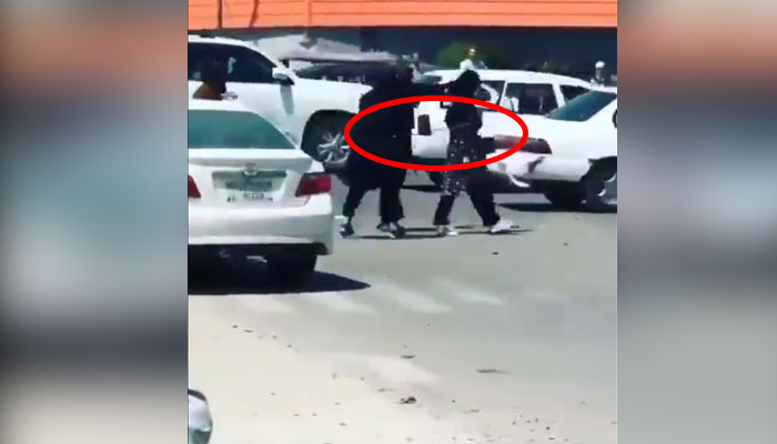 ویڈیو کے حوالے سے مصدقہ طور پر نہیں کہا جاسکتا ہے کہ یہ کب اور کہاں کی ویڈیو ہے— فوٹو: اسکرین گریب