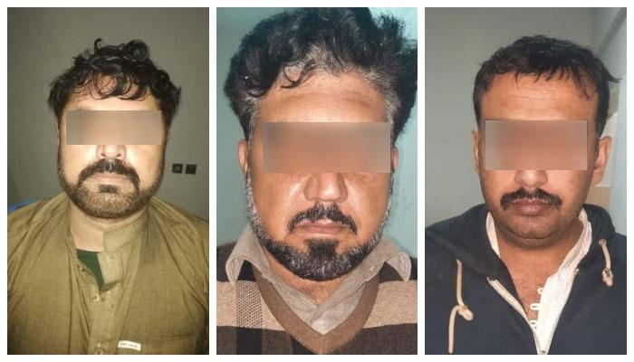 کراچی میں گرفتار ویک اینڈ گینگ کے ملزمان کا ایڈیشنل آئی جی موٹروے پر حملے میں ملوث ہونے کا انکشاف ہوا ہے ۔ —فوٹو:جیو نیوز