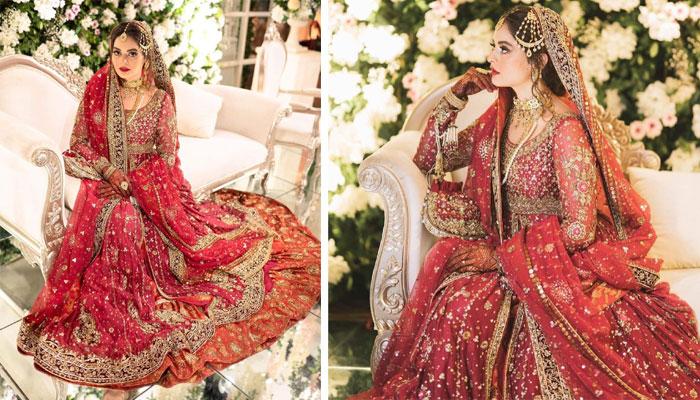 فیشن ڈیزائنر انس ابرار کی جانب سے منال خان کے عروسی لباس سے متعلق مختلف انکشافات سامنے آئے —فوٹوبشکریہ انسٹاگرام