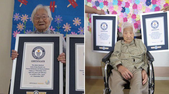 جاپان کی107 سالہ جڑواں بہنوں نے منفردگنیز ورلڈ ریکارڈ اپنے نام کرلیا