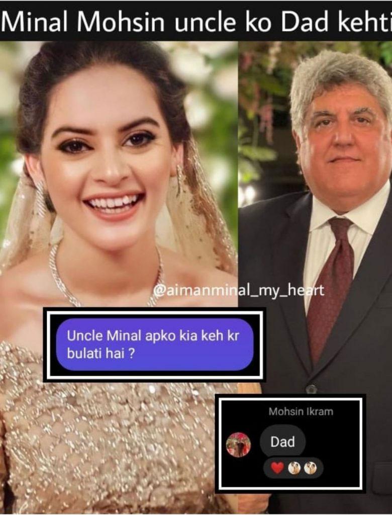 منال خان سسر کو ڈیڈ کہتی ہیں — فوٹوبشکریہ سوشل میڈیا