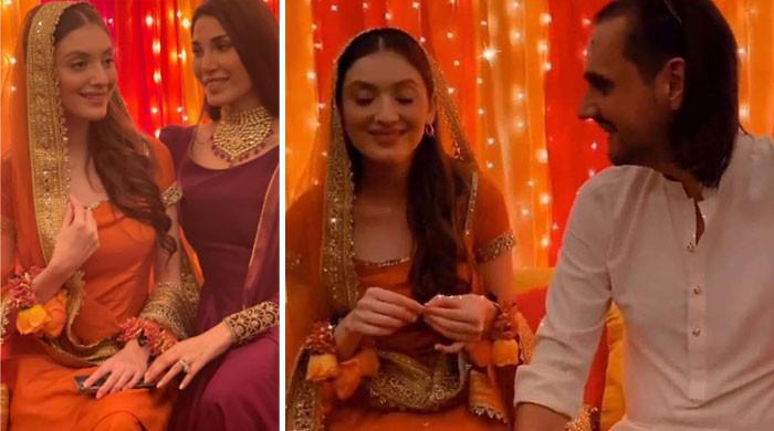 شہباز تاثیر اور نیہا راجپوت کی شادی، مایوں کی تصاویر اور ویڈیوز وائرل