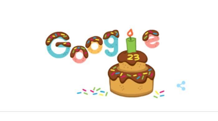 سرچ انجن گوگل 23 برس کا ہو گیا، نیا ڈوڈل جاری