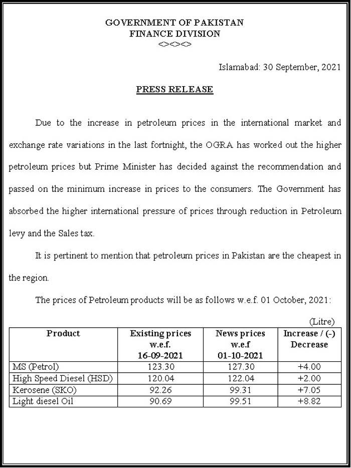پیٹرولیم مصنوعات کی قیمتوں میں 8 روپے فی لیٹر تک اضافہ