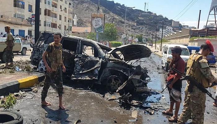 یمن کے شہر عدن میں کار بم دھماکے میں 6 افراد ہلاک اور5 زخمی ہوگئے —فوٹو: اے ایف پی