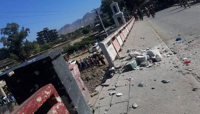 دھماکا کنڑ کے دارالحکومت اسدآباد میں ہوا، ڈسٹرکٹ پولیس چیف کی گاڑی کو نشانہ بنایا گیا: طالبان عہدیدار۔ فوٹو: سوشل میڈیا