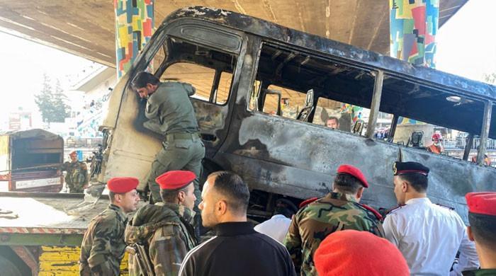شام کے دارالحکومت دمشق میں فوجی بس میں دھماکا، 14 افراد ہلاک