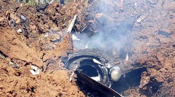 بھارتی فضائیہ کا لڑاکا طیارہ گر کر تباہ