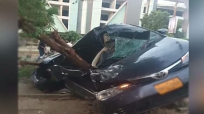ویڈیو: تیز رفتاری کے باعث خوفناک حادثہ، بے قابوکار ٹکڑوں میں بٹ گئی