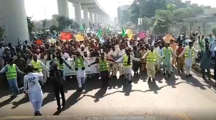 کالعدم ٹی ایل پی کا اسلام آباد کی طرف متوقع لانگ مارچ، سکیورٹی کے سخت انتظامات