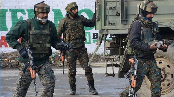 بھارتی وزیرداخلہ کے دورےکے موقع پر مقبوضہ کشمیر فوجی چھاؤنی میں تبدیل